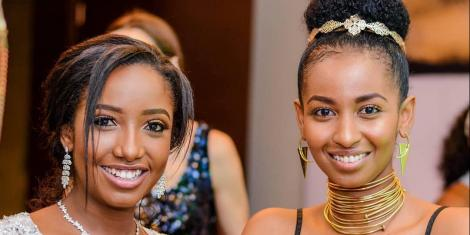 Anita Nderu and Sarah Hassan pictured at a product launch on July 19, 2018.