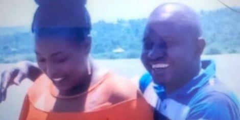 Businessman Evans Karani (right) and the late Catherine Nyokabi.