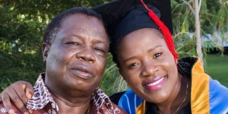 Cotu Secretary-general Francis Atwoli and his wife Mary Kilobi after her Graduation in December, 2019.