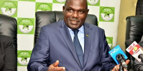 IEBC Chairperson Wafula Chebukati at the commission's office at Anniversary Towers in Nairobi in June 2017.