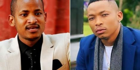 A collage of Embakasi East MP Babu Owino and mucisian Otile Brown