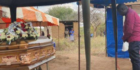 Daniel Ndambuki alias Churchill during the burial of Joseph Musyoki Kivindu aka Kasee. July 4, 2020.