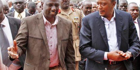 Deputy President William Ruto and President Uhuru Kenyatta.