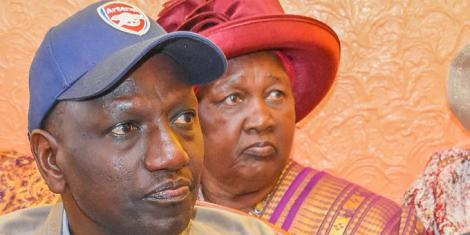 Deputy President William Ruto and his mother Sarah Cheruyiot pictured at an event. On May 10, DP Ruto sent out a special message to his mum.
