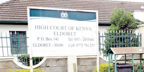A signpost next to Eldoret Courts.