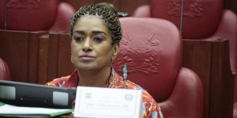 Nairobi Woman Representative Esther Passaris during a session in parliament on February 13, 2020.