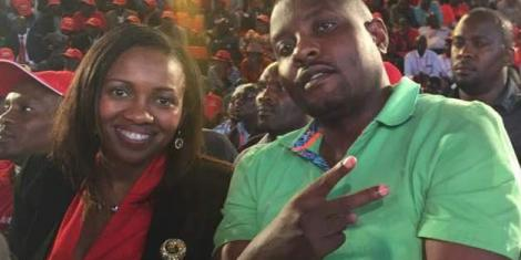 Estranged couple Nakuru Senator Susan Kihika and husband Sam Mburu.