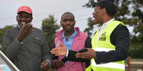 Kenya Film Classification Board (KFCB) CEO Ezekiel Mutua during a crackdown on public service vehicles in Nairobi on February 4, 2020