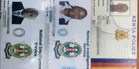 An image of fake IDs