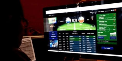 File image showing a betting website.
