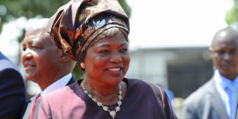 Former First Lady Mama Ngina.