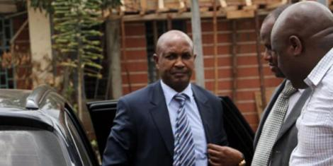 Former Imenti Central MP Gideon Mwiti arrives at Kenyatta National Hospital on March 24, 2015, to give DNA samples after being accused of rape