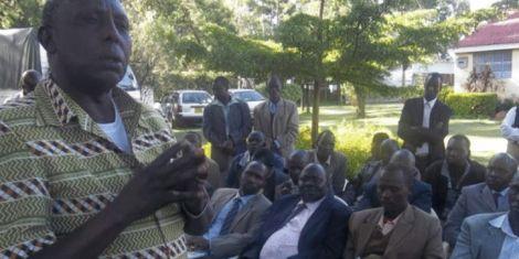 Hosea Kiplagat addresses a congregation of teachers in Baringo