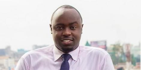 BBC broadcast journalist Ian Wafula on April 18, 2018