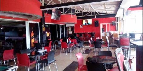 Inside the restaurant at Marcia Hotel along Mombasa Road.