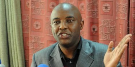 Senate Majority Chief Whip Irungu Kang'ata addresses journalist in 2019
