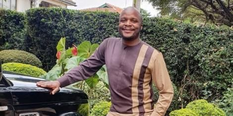 Comedian and media personality Felix Odiwour, Jalang'o, poses for a photo in June 2020.