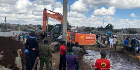 An image of demolitions at Kariobangi