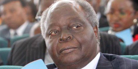 Kenya's third President Mwai Kibaki at a public event
