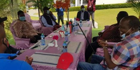 Leaders pictured at Francis Atwoli's Ildamat home in Kajiado County on August 16, 2020.