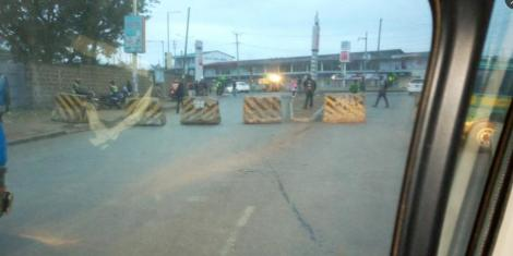 Lungalunga-Likoni Road junction closed on Wednesday, July 15, 2020.