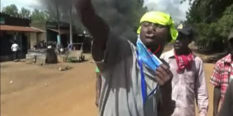 An image of Malaba protests