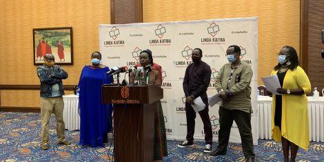 Martha Karua addressing the press at Serena Hotel Nairobi. November 29, 2020.