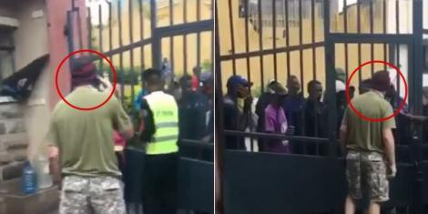 The foreigner who pulled a George Floyd card against an angry Kenyan mob in Nairobi on Thursday, June 18, 2020