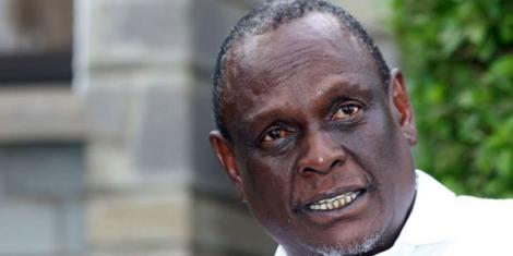David Murathe during a press conference