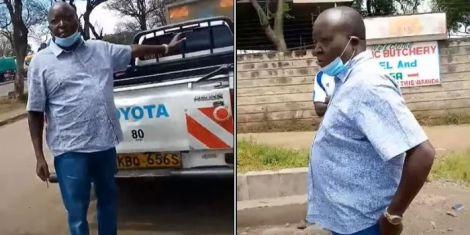 Nakuru West MP Samuel Arama as captured from the video