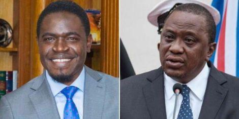 Law Society of Kenya President Nelson Havi (left) and President Uhuru Kenyatta.