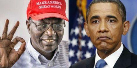 A photo of Malik Obama and Barrack Obama