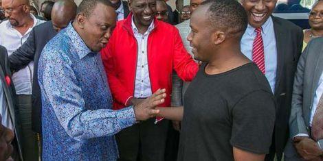 President Uhuru Kenyatta and Starehe MP Charles Njagua