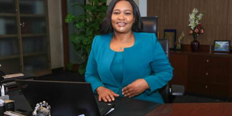 File image of Kengen MD Rebecca Miano