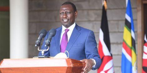 Deputy President William Ruto addresses the media outside his Karen, Nairobi home on Thursday, April 9, 2020