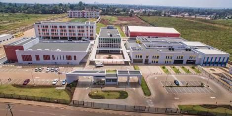 An aerial view if Sabis International School in Runda.