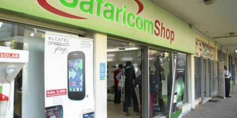 A Safaricom Shop in Nairobi