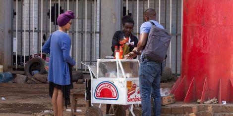 File image of a mobile sausage vendor in Nairobi