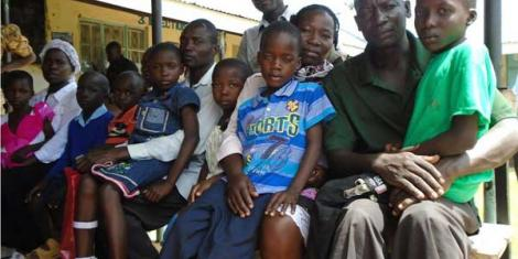 Some of the children left paralysed after receiving injections at Akichelesit Dispensary in Teso North, Busia County between April 7, 2013 and June 25, 2015.