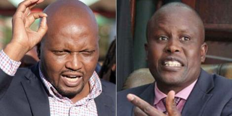 Gatundu South MP Moses Kuria (Left) and Kieni MP Kanini Kega (right)