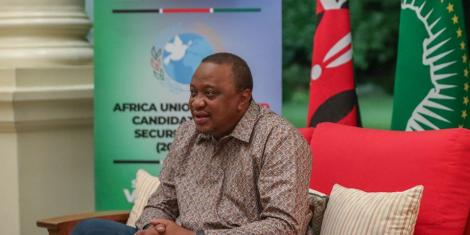 President Uhuru Kenyatta during a meeting with Permanent Representatives of various countries to the United Nations on Tuesday, June 16, 2020