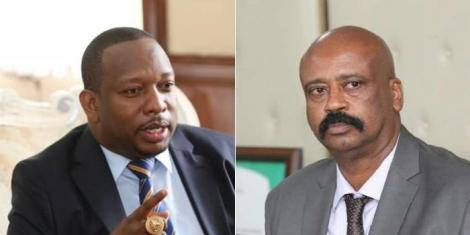 Nairobi Governor Mike Sonko and NMS Director-General Mohamed Badi