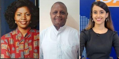 Left to right: Veteran News anchors Catherine Kasavuli, Badi Muhsin and former K24 TV anchor Shiksha Arora.