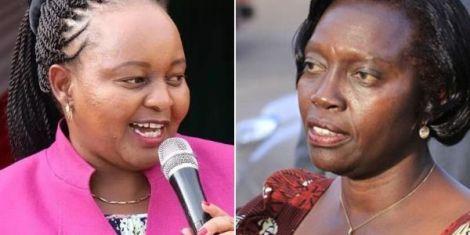 A collage of Kirinyaga Governor Anne Waiguru and Nark-Kenya Leader Martha Karua