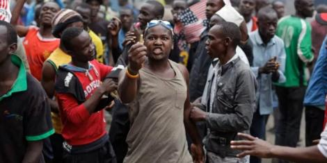 Kenyans pictured during a past riot