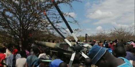 Two Officers Dies After Kenyan Military Helicopter Crashes