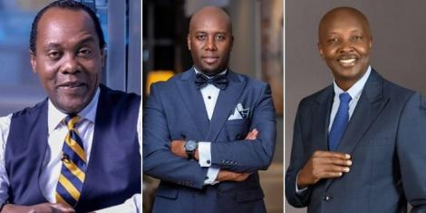 From left to right: Jeff Koinange, Dennis Okari, Joseph Warungu.
