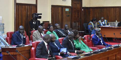 MCAs during a session in the Bungoma county assembly in 2018.