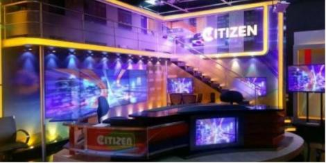 A photo of the Citizen TV studios