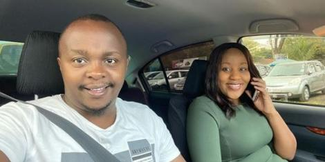 Former K24 TV journalists Joab Mwaura and Nancy Onyancha